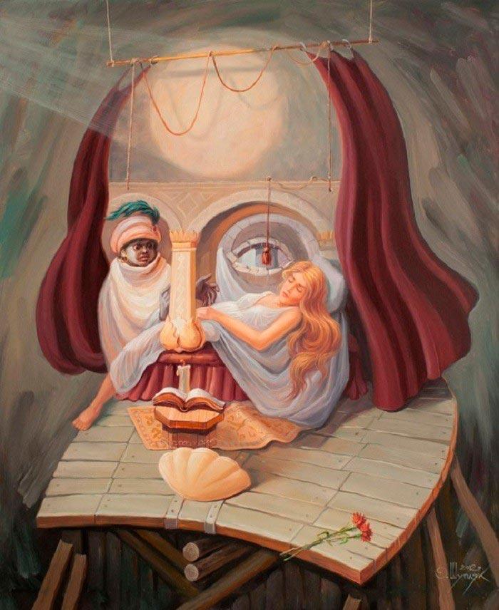 Олег Шупляк картины на которых есть еще кто-то На театральных подмостках