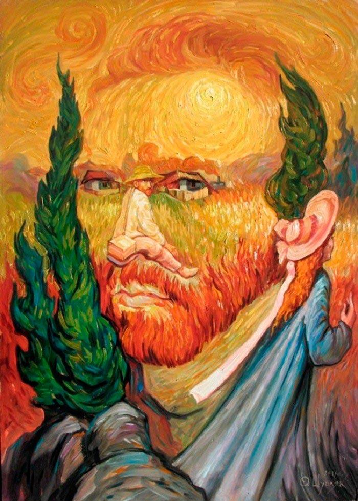 Олег Шупляк картины на которых есть еще кто-то Двойной портрет Ван Гога