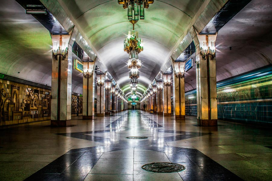 Метро Ташкента Станция Тинчлик