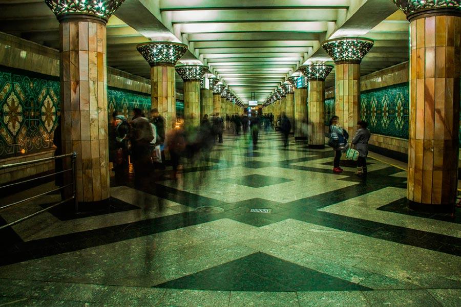 станции метро Ташкента Пахтакор