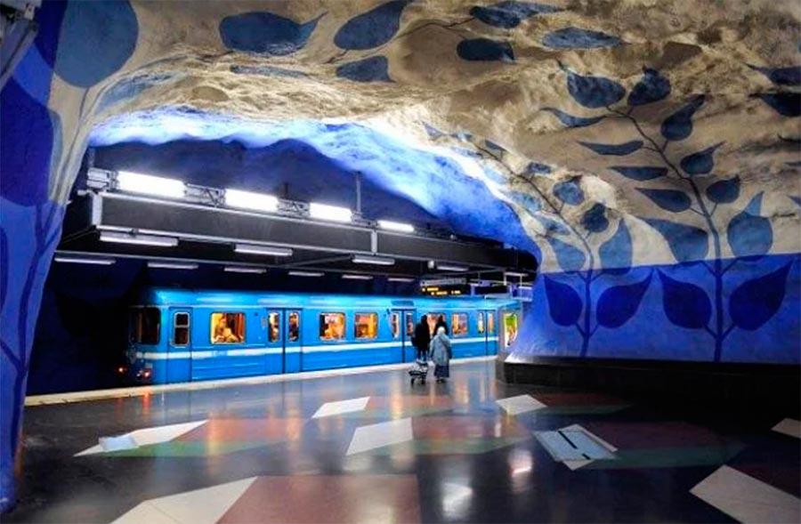 Stockholm Sweden metro station станции метро Стокгольм Швеция