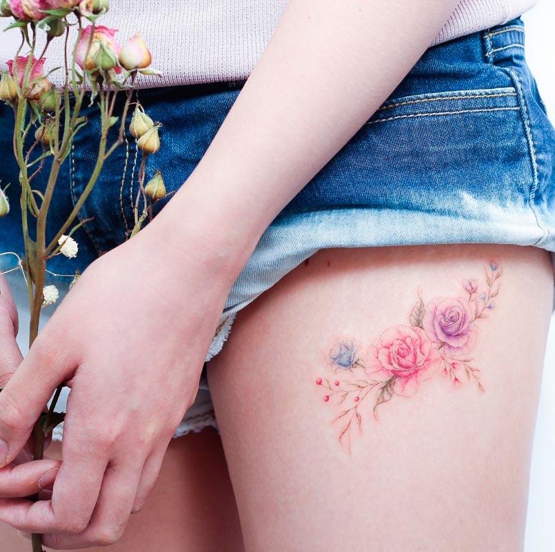 Нежность и изысканность в тату tattoo