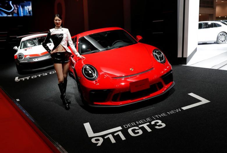 Japan Tokyo motor show Япония Токийский автосалон Porsche 911 GT3