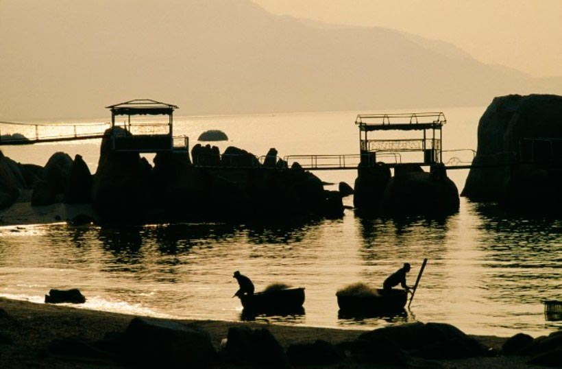 Vietnam Вьетнам пляжи Остров Кон Сон архипелаг Кон Дао