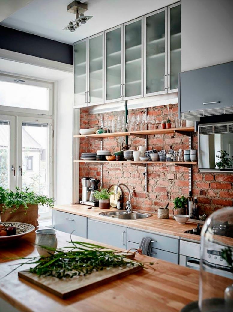 идеи дизайна кухни Лофт lost