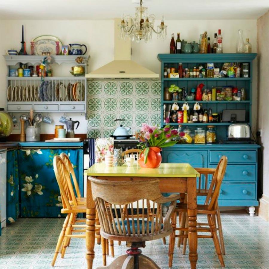 идеи дизайна кухни Винтаж vintage