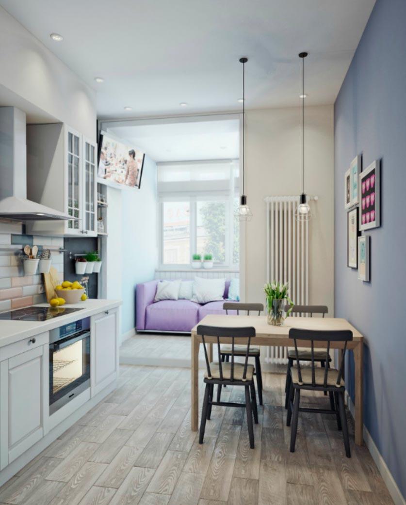 идеи дизайна кухни Хай-тек hi-tech