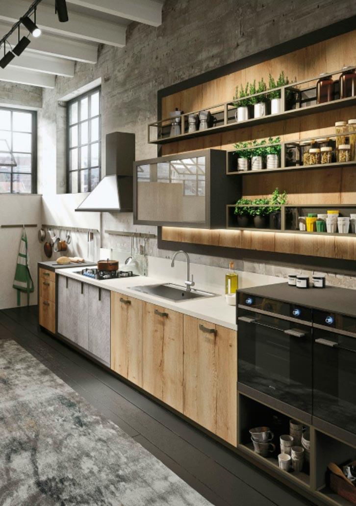 идеи дизайна кухни Индустриальный шик industrial chic