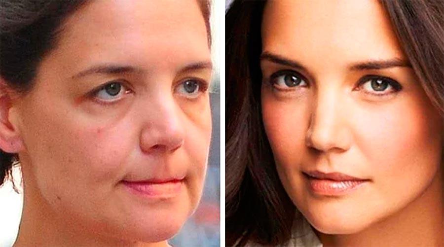 Звезды макияж celebrities makeup Кэти Холмс Katie Holmes