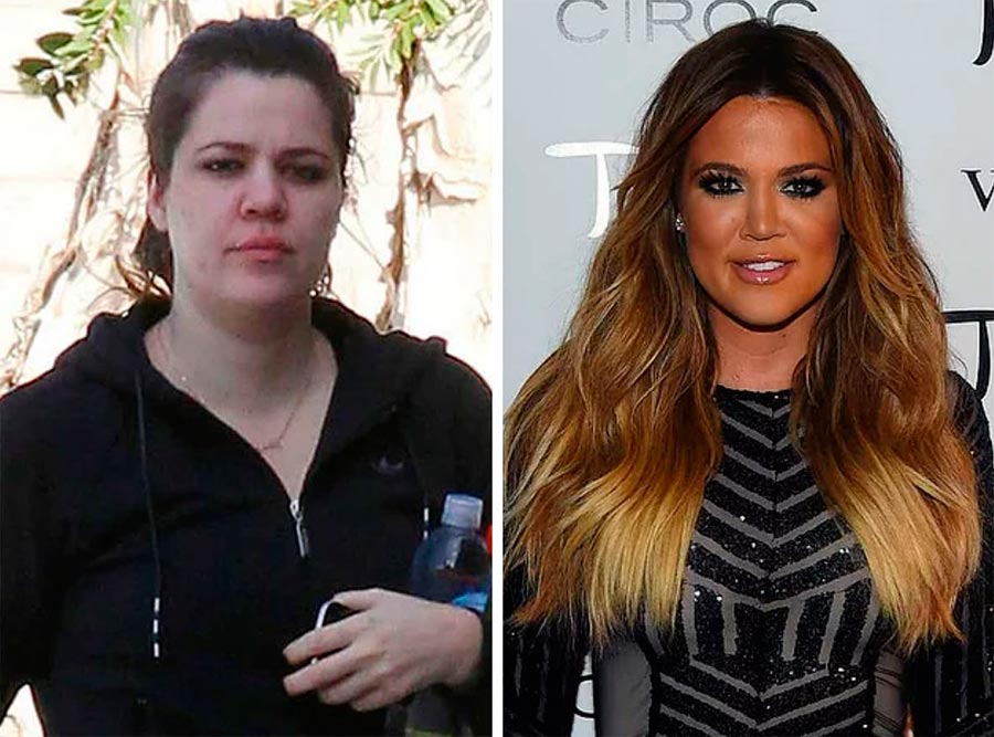 Звезды макияж celebrities makeup Хлои Кардашян Khloe Kardashian