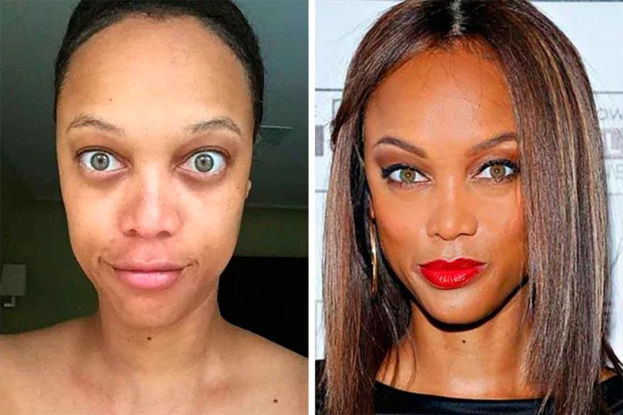 Звезды макияж celebrities makeup Тайра Бэнкс Tyra Banks