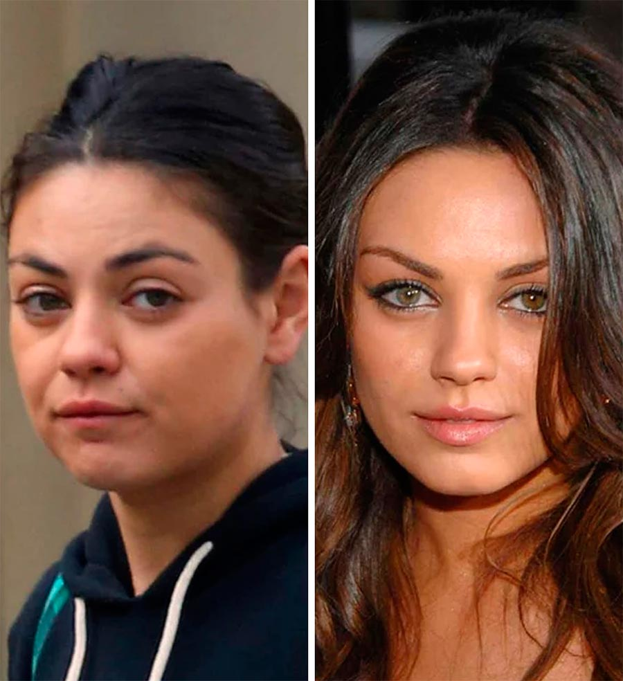 Звезды макияж celebrities makeup Мила Кунис Mila Kunis