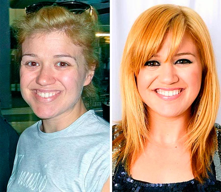 Звезды макияж celebrities makeup Келли Кларксон Kelly Clarkson