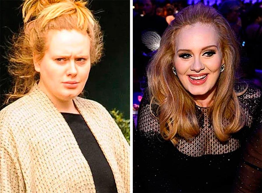 Звезды макияж celebrities makeup Адель Adele