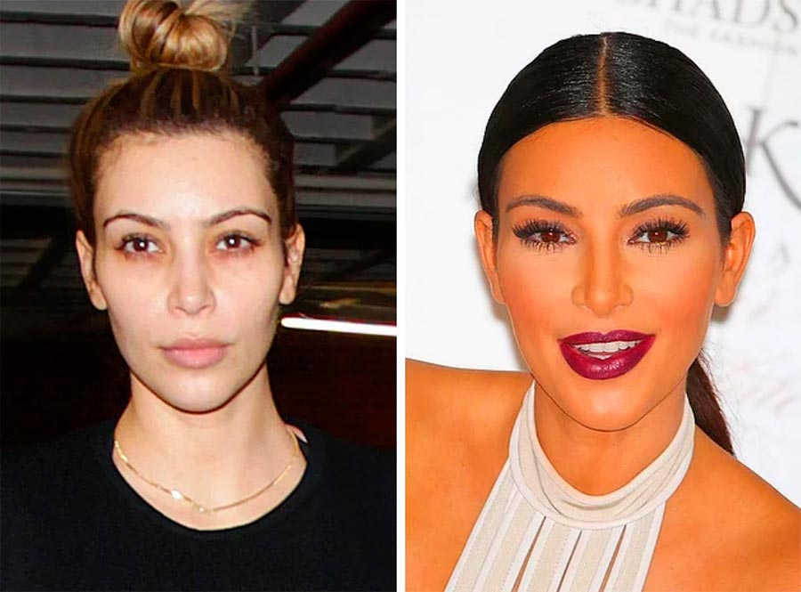 Звезды макияж celebrities makeup Ким Кардашян Kim Kardashian