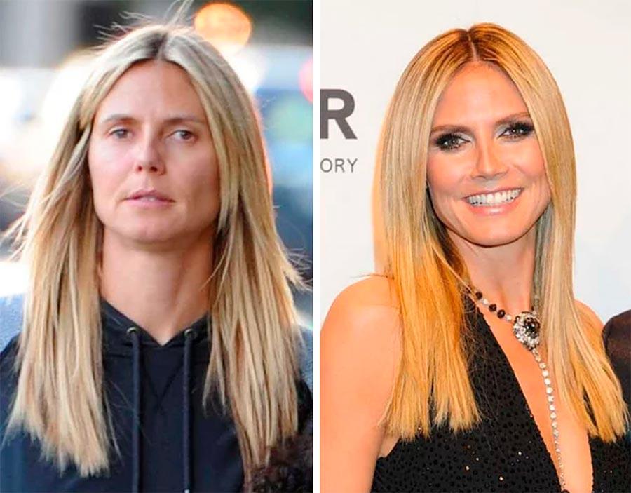 Звезды макияж celebrities makeup Хайди Клум Heidi Klum
