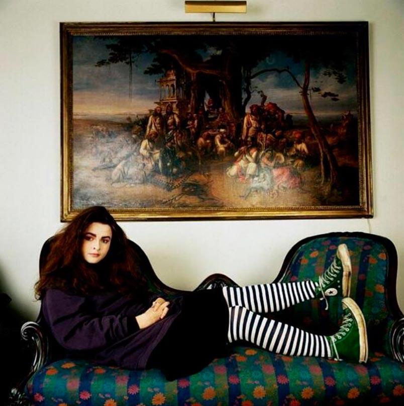 знаменитости в юном возрасте celebrities young age Хелена Бонэм Картер Helena Bonham Carter