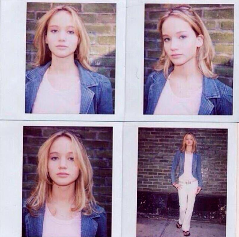 знаменитости в юном возрасте celebrities young age Дженнифер Лоурен Jennifer Shrader Lawrence