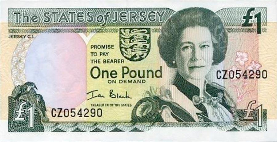 Возрастные изменения Елизаветы II на банкнотах changes on the banknotes Elizabeth 1 джерсийский фунт