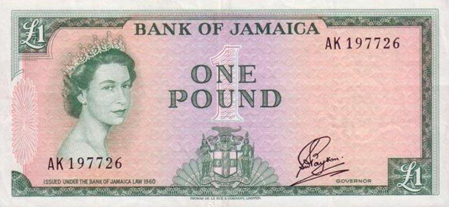 Возрастные изменения Елизаветы II на банкнотах changes on the banknotes Elizabeth 1 ямайский фунт