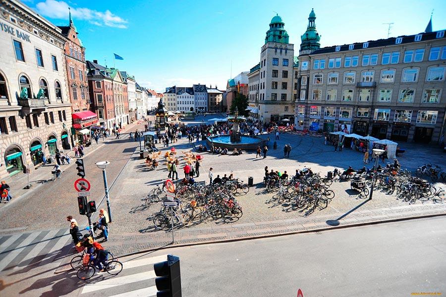 Страны люди передвигаются на велосипедах countries people move on bicycles Дания Denmark