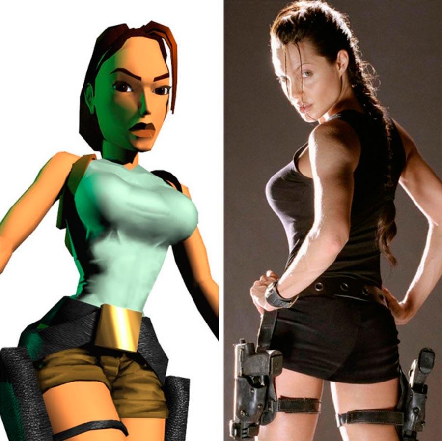 Игровые персонажи Роберто Анджелина Джоли Angelina Joile Лара Крофт Tomb Raider