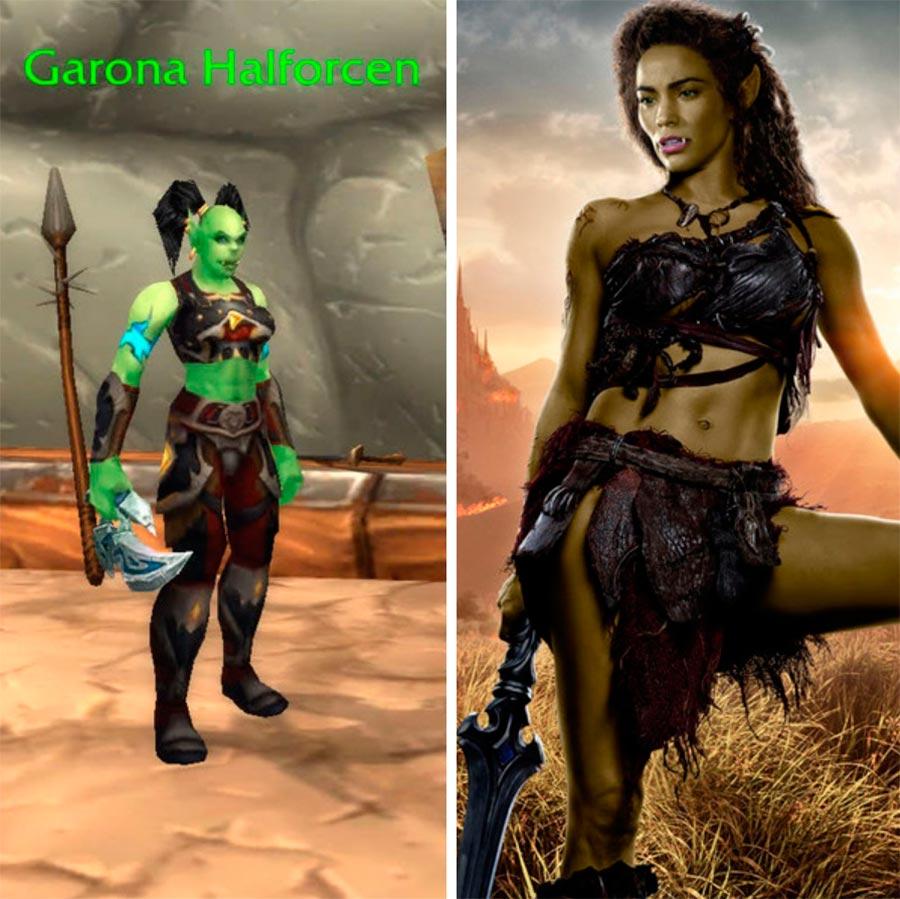 Игровые персонажи Пола Пэттон Paula Patton Гарона Warcraft