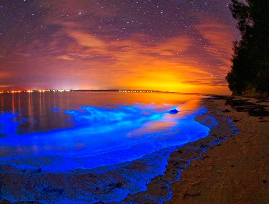 свечение мальдивских пляжей the glow of the Maldivian beaches