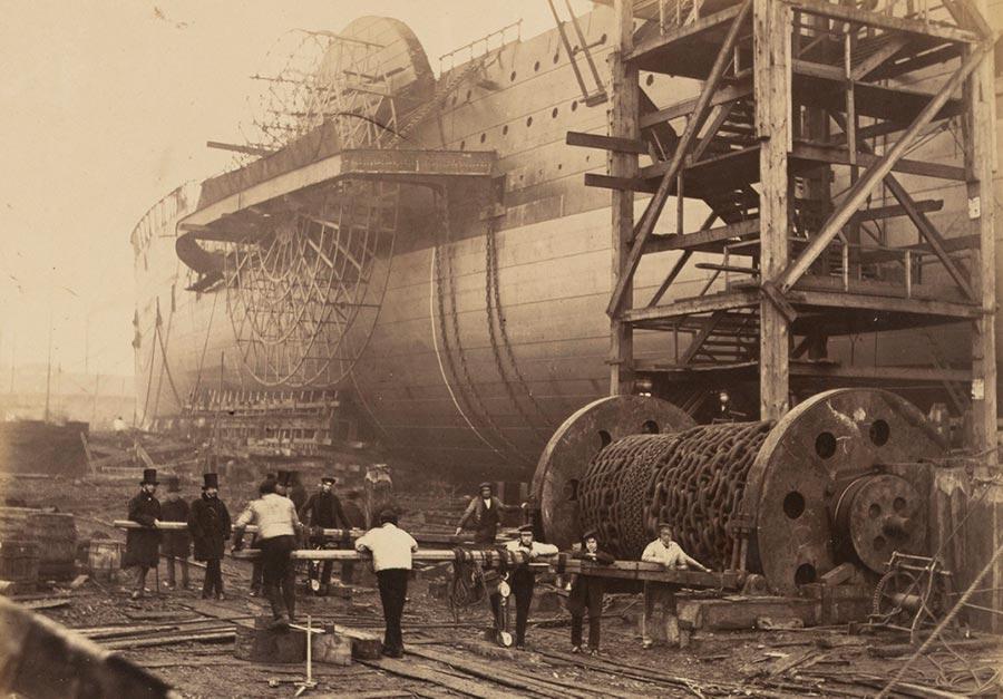 historical events Исторические события город Строительство корабля SS Great Eastern Район Миллуолл Лондон London