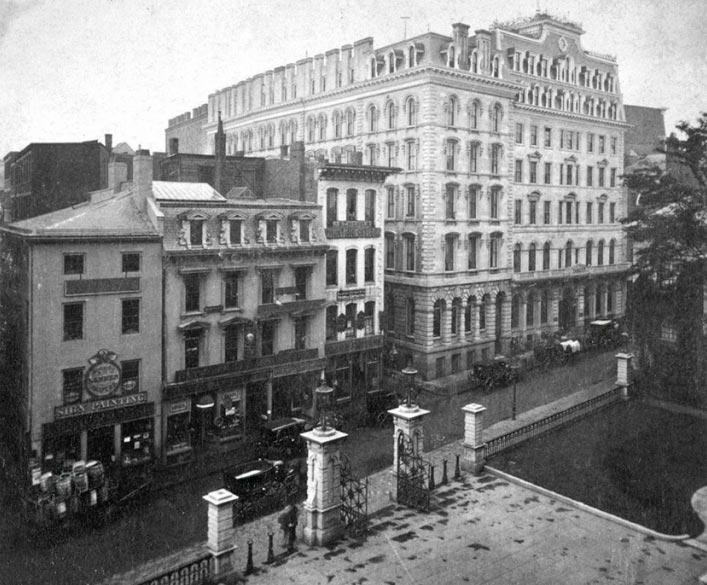 historical events Исторические события 1857 года Отель Parker House Атлантик Бостон США Boston Usa