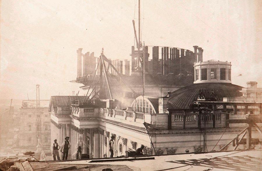 historical events Исторические события 1857 года купол Капитолия Вашингтон США  Washington Usa