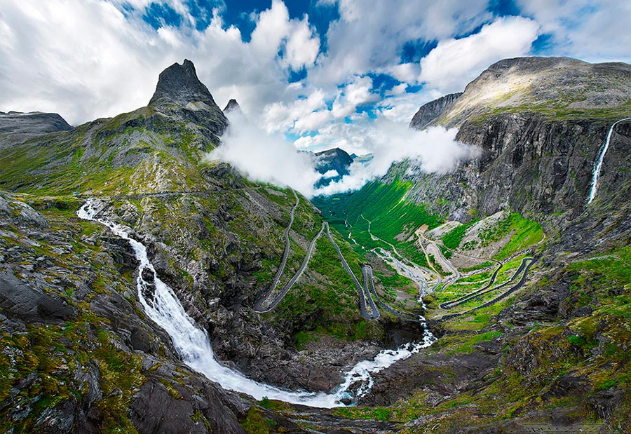 пейзажи Норвегия landscapes Norway Trollstigen Дорога Троллей