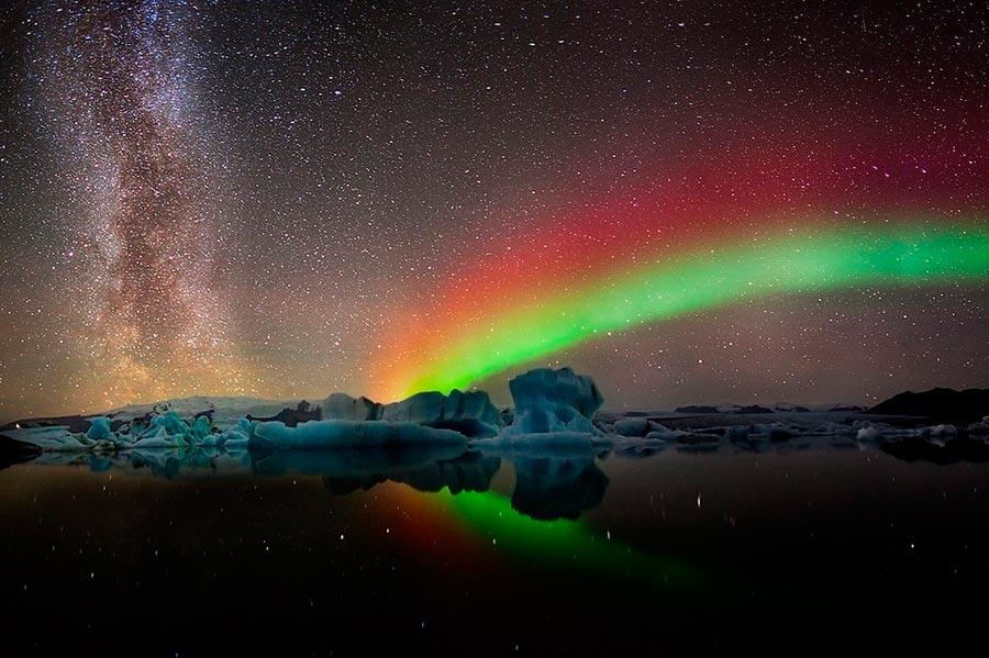 пейзажи Норвегия landscapes Norway Северное сияние Млечный путь