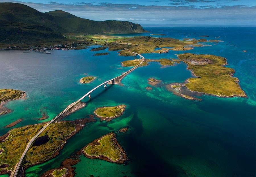 пейзажи Норвегия landscapes Norway Арктический рай