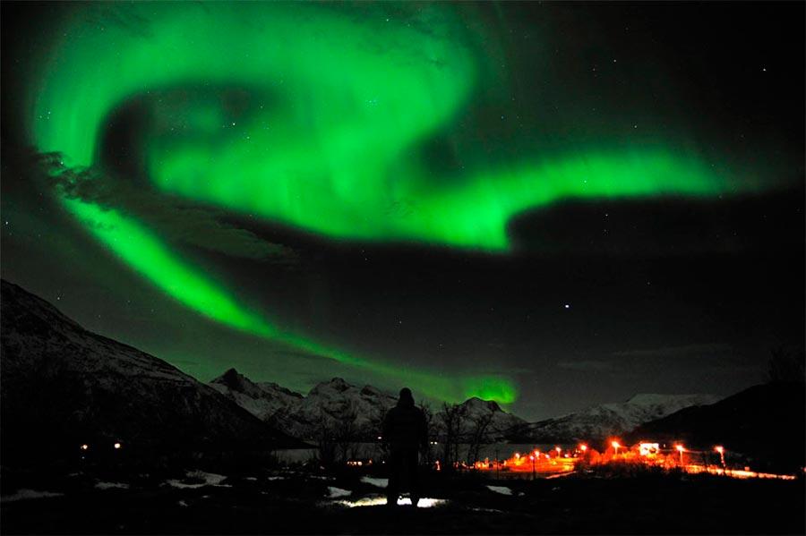 пейзажи Норвегия landscapes Norway Северное сияние на севере Норвегии