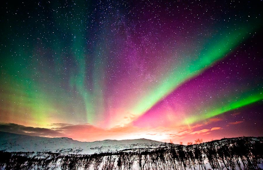 пейзажи Норвегия landscapes Norway Аврора на рассвете