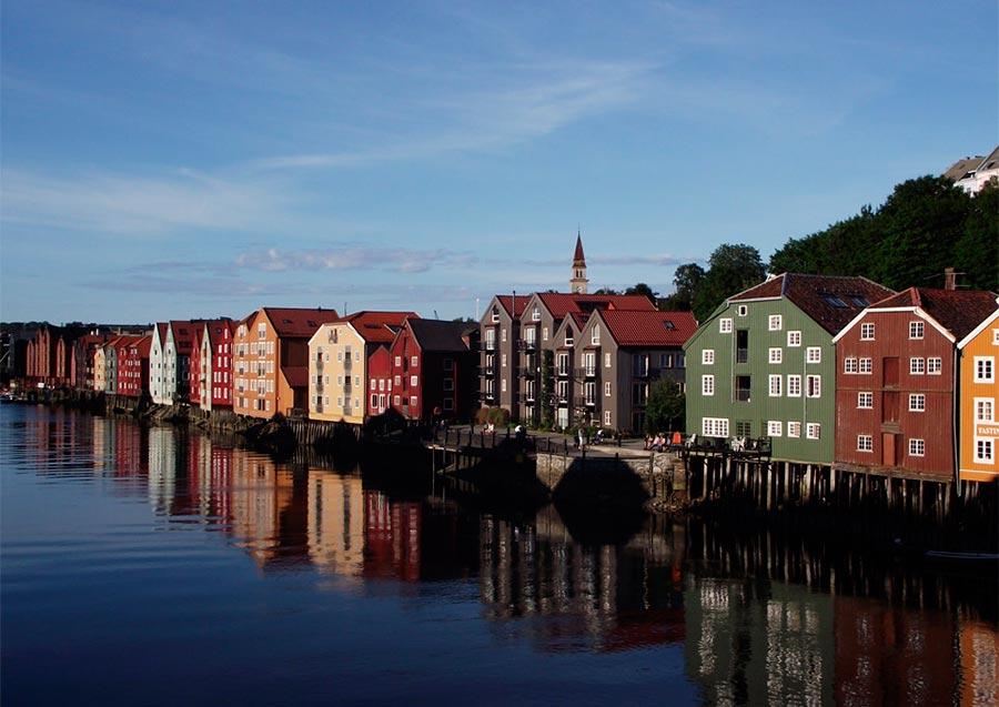 пейзажи Норвегия landscapes Norway Живописный Тронхейм