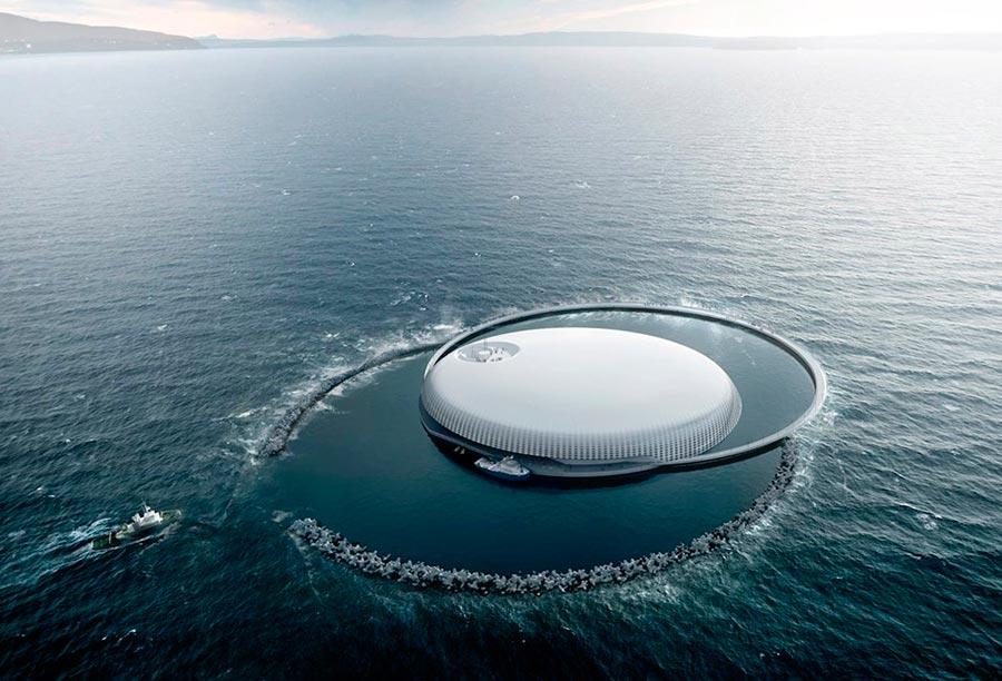 пейзажи Норвегия landscapes Norway Центр исследований океана Ocean Space Centre