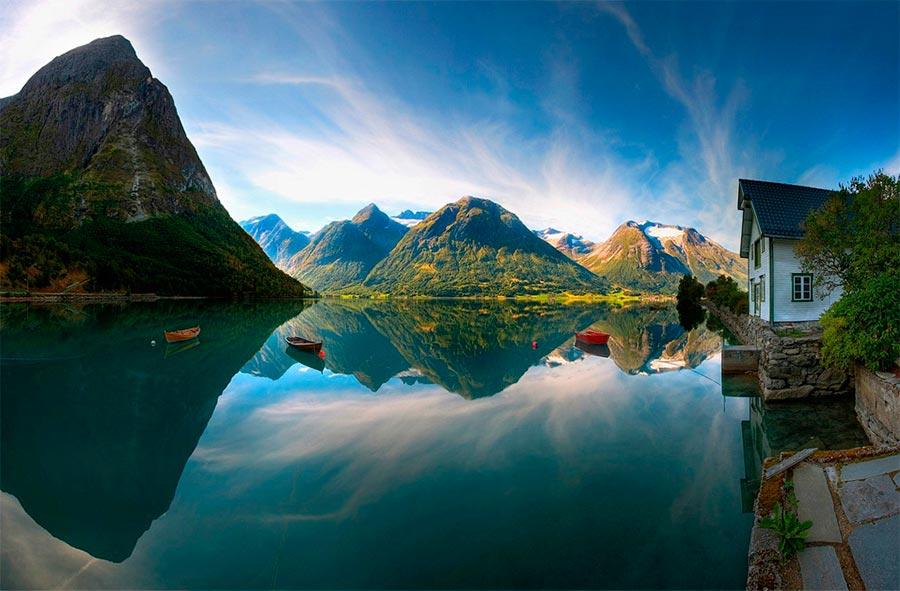 пейзажи Норвегия landscapes Norway озеро