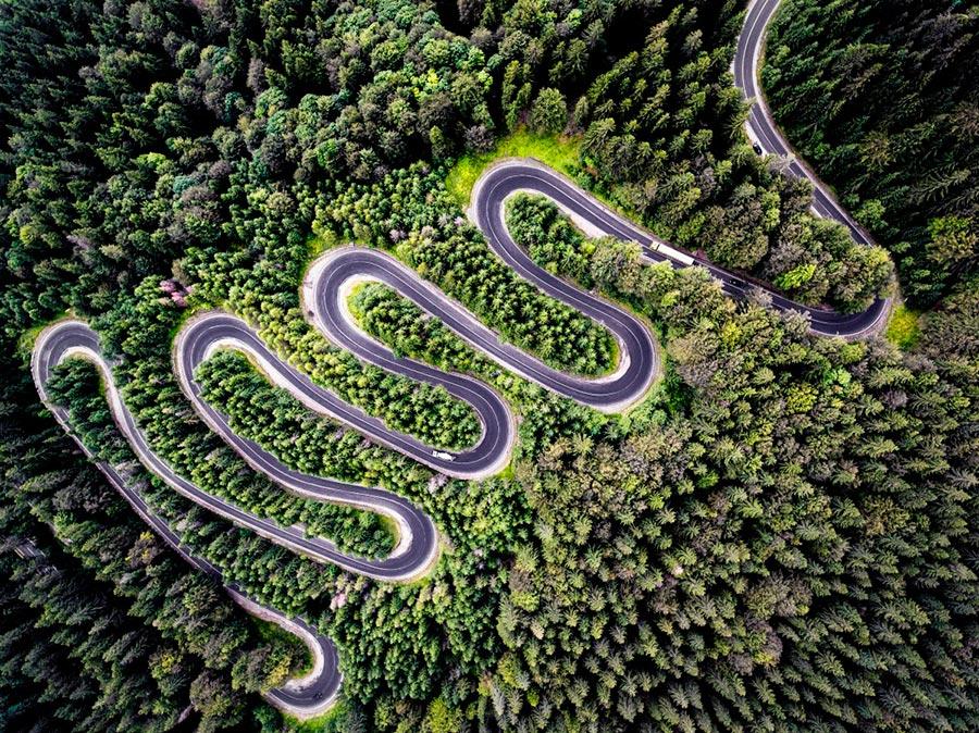 фотографии сделанные дронами photos taken by drones Колин Стэн Бесконечная дорога в Трансильванию
