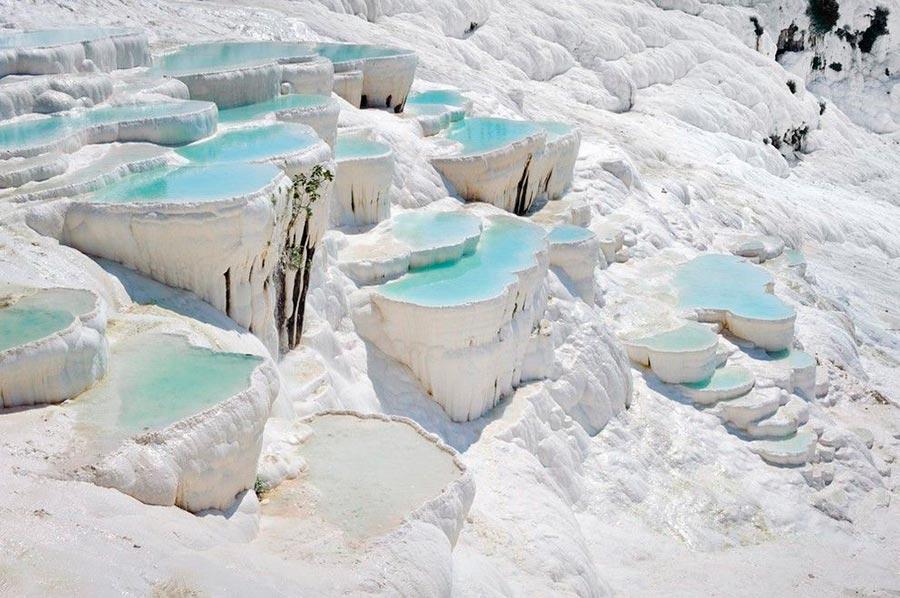места на Земле Памуккале Турция Turkey