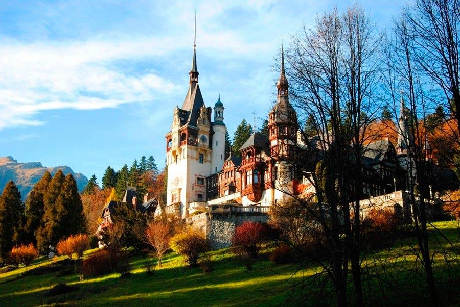 места на Земле Замок Пелеш Румыния Romania