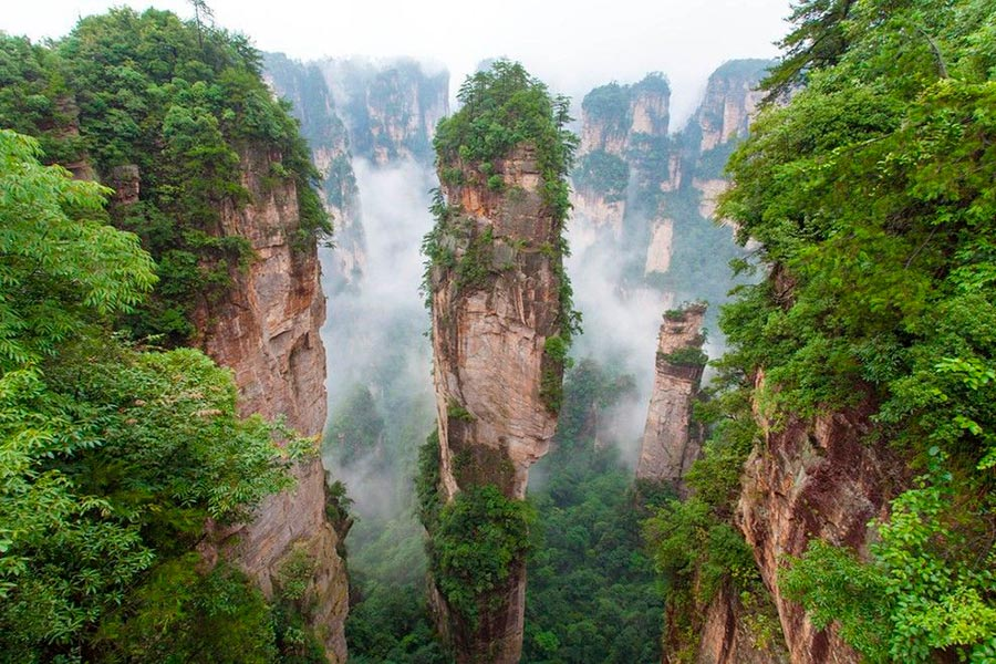 места на Земле Чжанцзяцзе Китай China