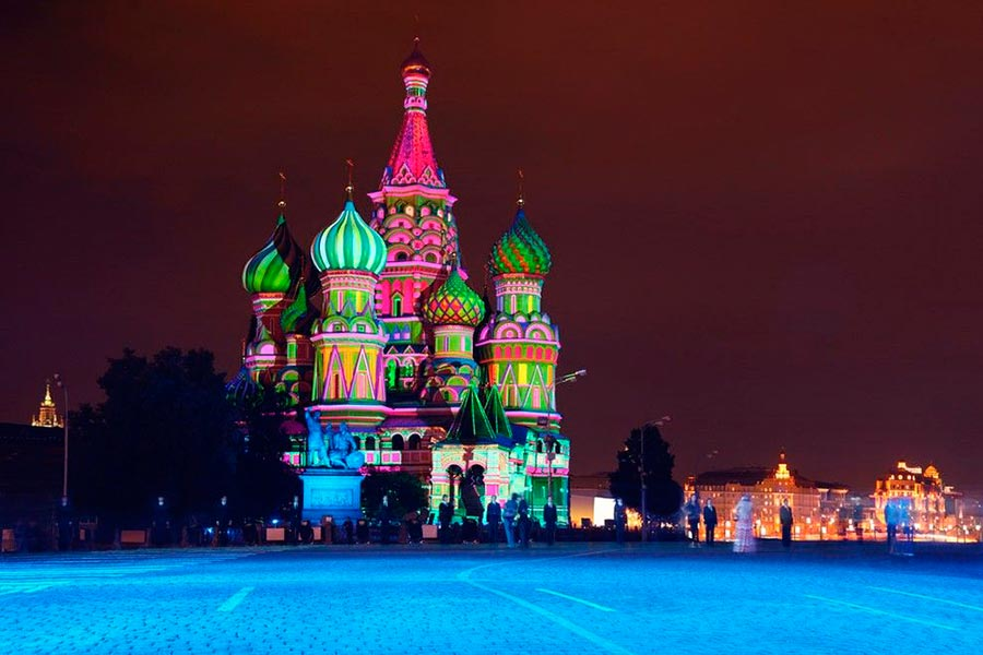 места на Земле Собор Василия Блаженного Россия Russia