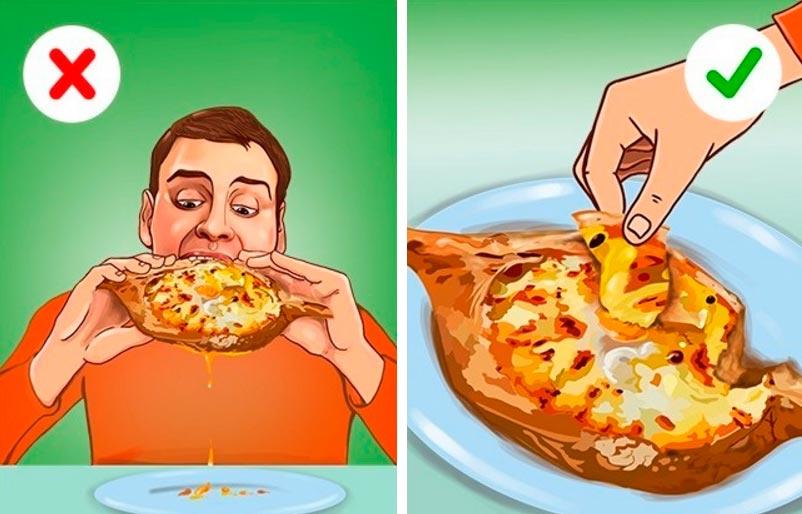 этикет есть в ресторанах чтобы не было стыдно Хачапури по-аджарски