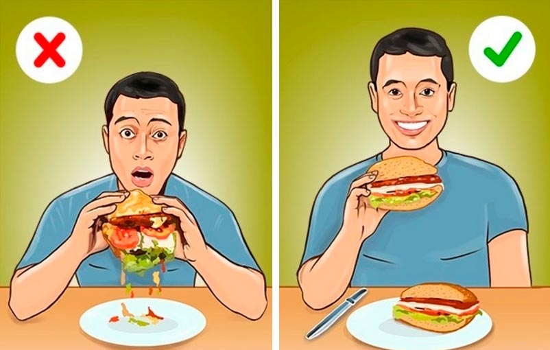 этикет есть в ресторанах чтобы не было стыдно Бургер