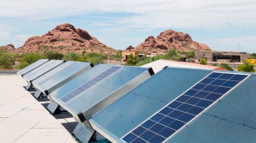 домашняя солнечная установка для производства воды из воздуха solar installation for the production of water from air