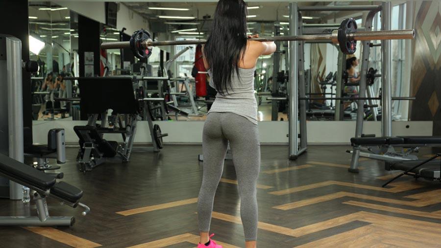 Фронтальные приседания front squats