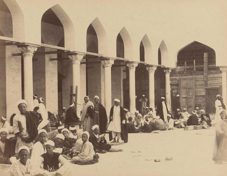 Adelphoi Zangaki Братья Зангаки Древние чудеса Египта ancient wonders of Egypt Студенты в мечети Аль-Азхар Каир
