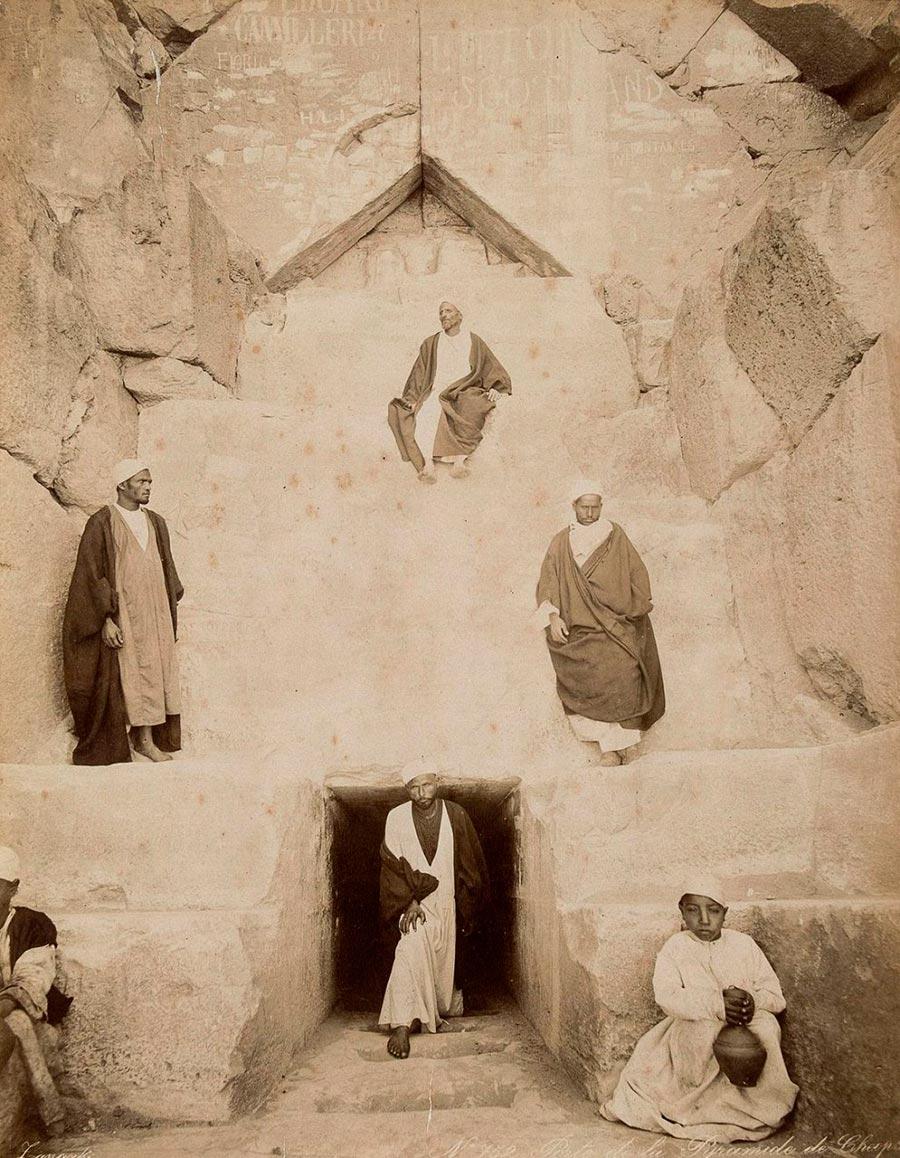 Adelphoi Zangaki Братья Зангаки Древние чудеса Египта ancient wonders of Egypt Вход в Великую пирамиду в Гизе